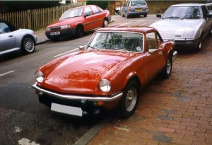 Photo of Triumph Spitfire Just After Bodywork Restoration