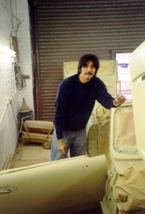 Photo of Triumph Spitfire During Bodywork Restoration