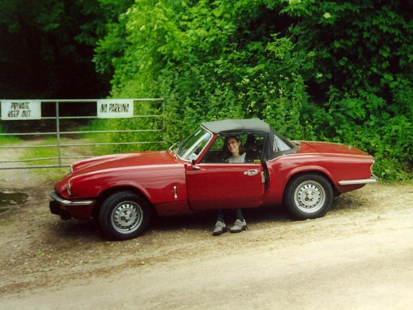 Photo of Triumph Spitfire at the Glastonbury Festival Site in Somerset