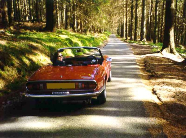 Photo of Triumph Spitfire near Lake Vyrnwy 2